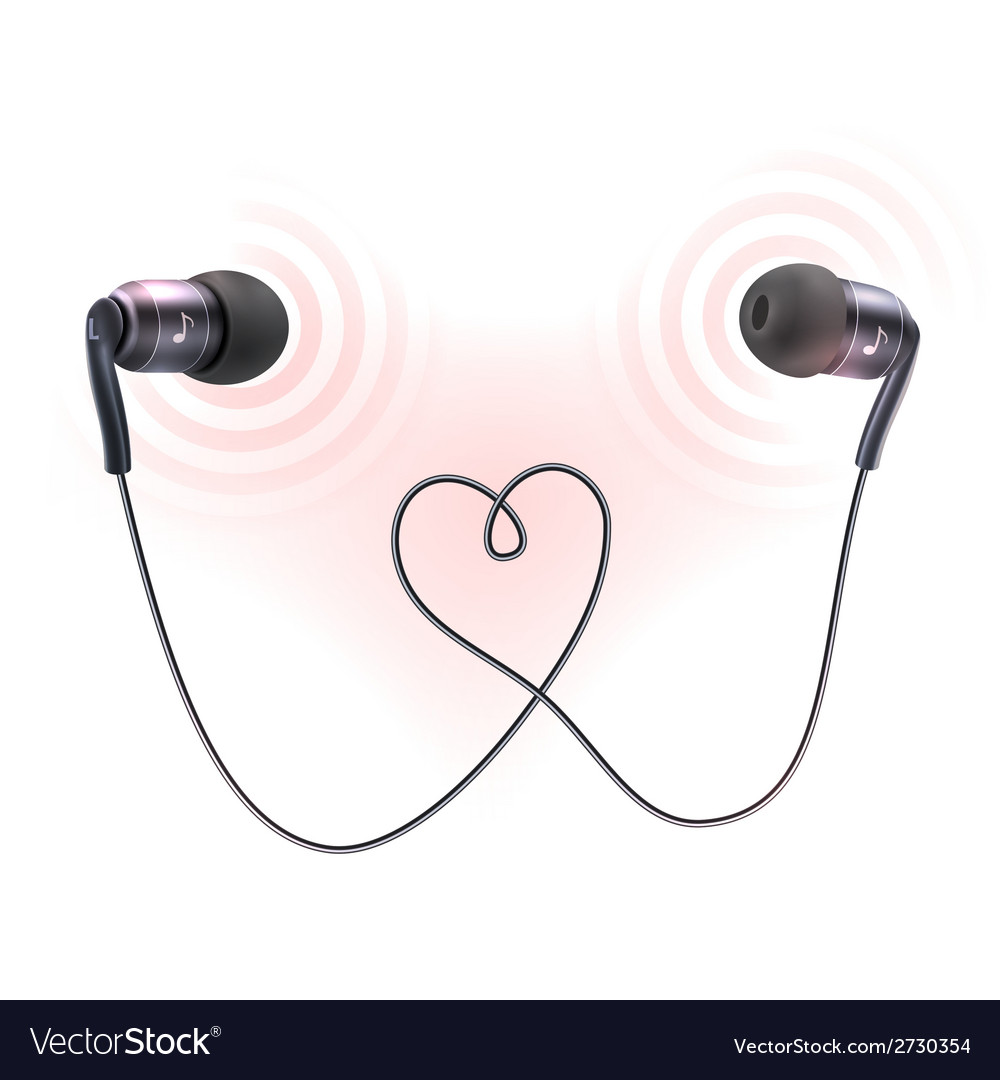 Headphones earplugs poster vector | Price: 1 Credit (USD $1)