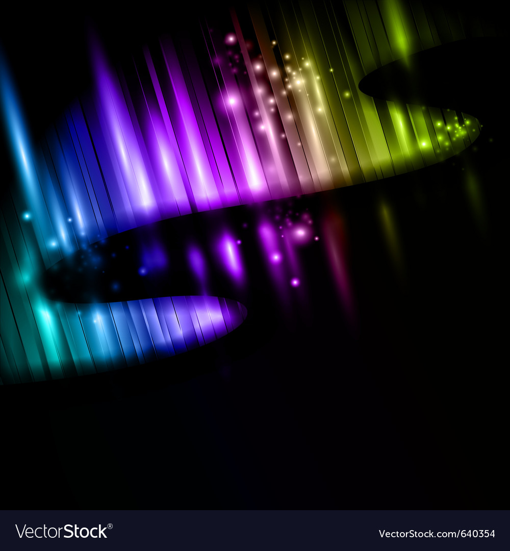 Northern lights vector | Price: 1 Credit (USD $1)
