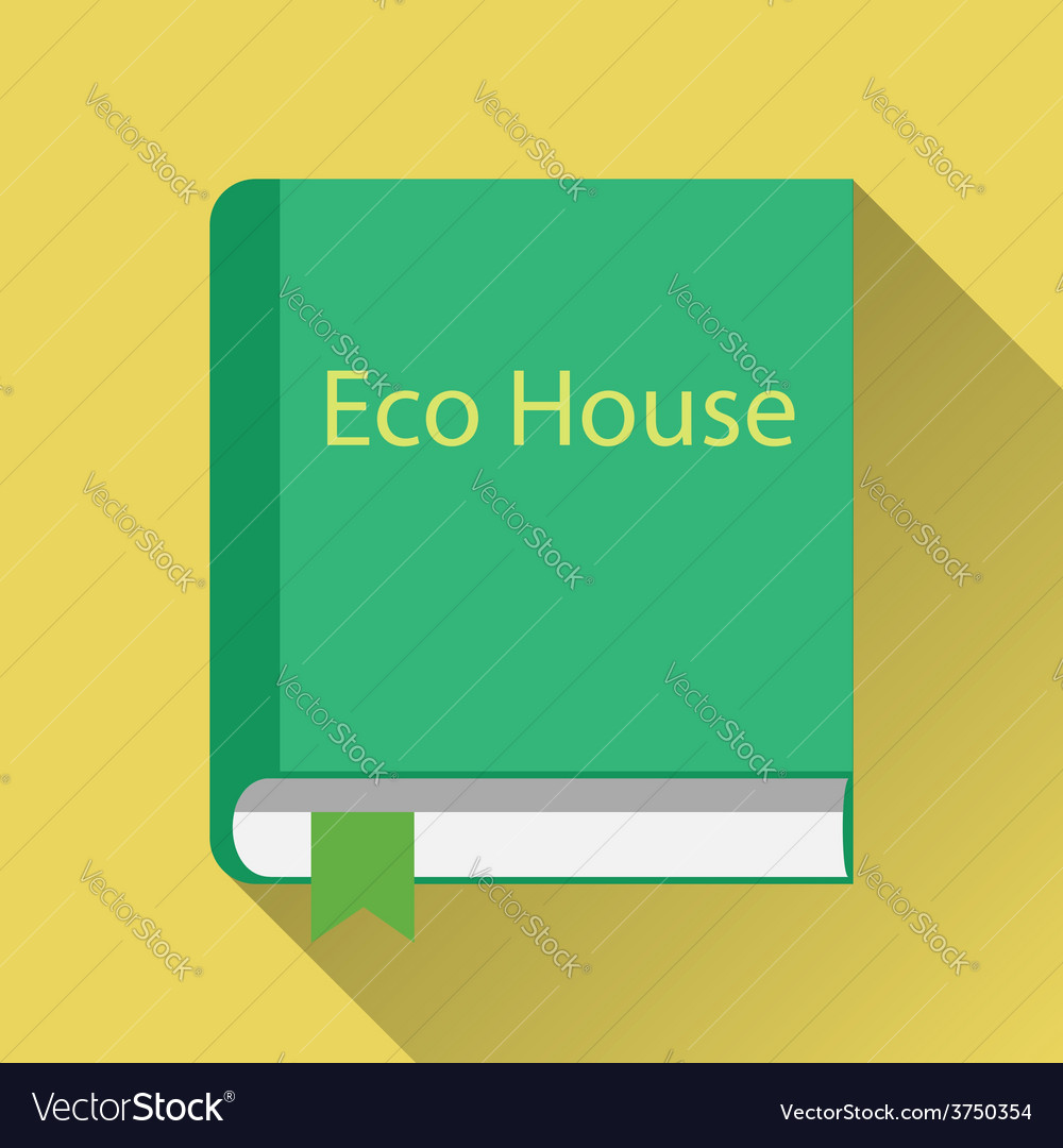 Paper book about green home vector | Price: 1 Credit (USD $1)
