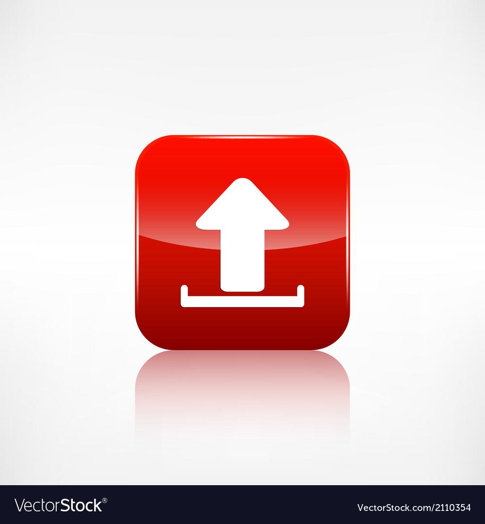 Upload icon send file vector   Price: 1 Credit (USD $1)
