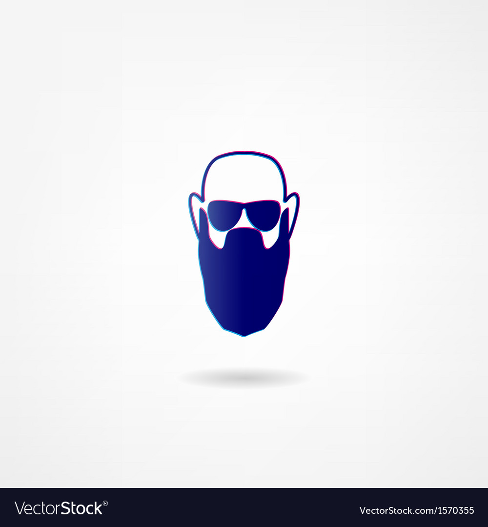 Beard icon vector | Price: 1 Credit (USD $1)