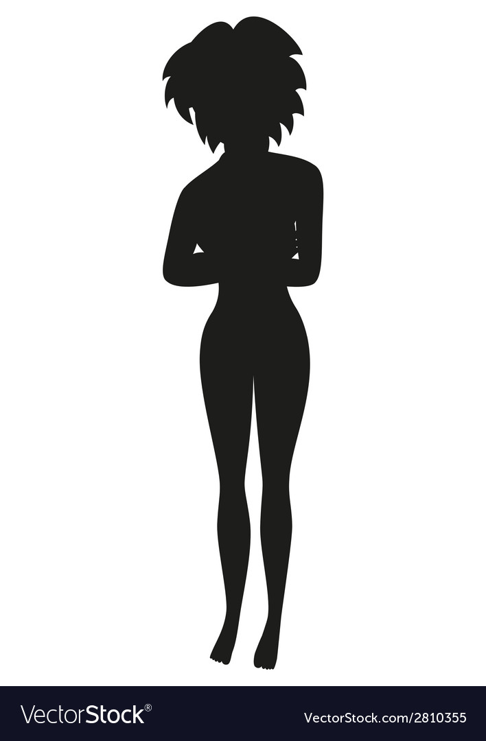 Black silhouette of woman in a swim suit vector | Price: 1 Credit (USD $1)