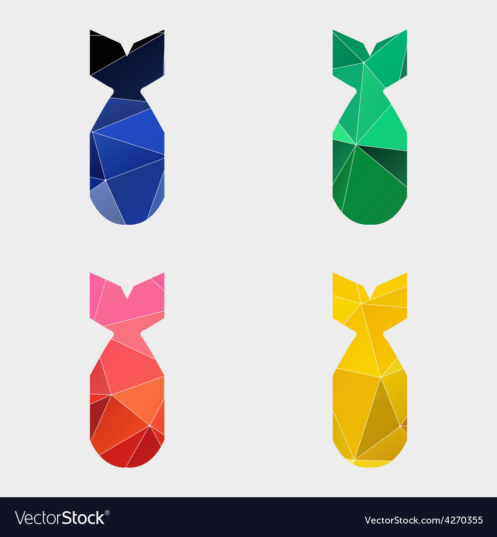 Bomb icon abstract triangle vector | Price: 1 Credit (USD $1)