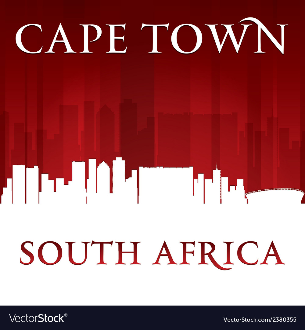 Cape town south africa city skyline silhouette vector | Price: 1 Credit (USD $1)