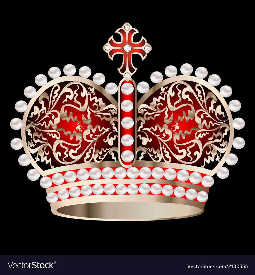 Crown with pearls vector | Price: 1 Credit (USD $1)
