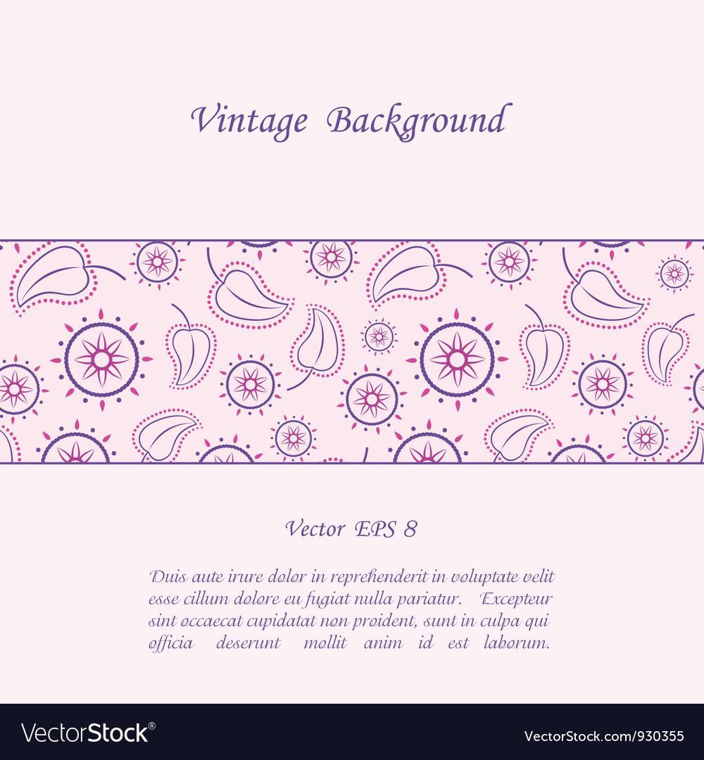 Floral vintage background vector   Price: 1 Credit (USD $1)