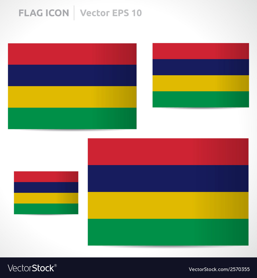 Mauritius flag template vector | Price: 1 Credit (USD $1)