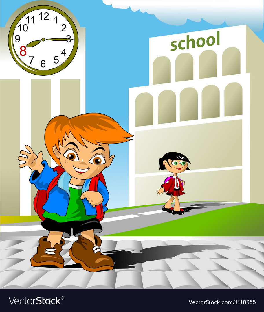 Meeting at school vector | Price: 1 Credit (USD $1)