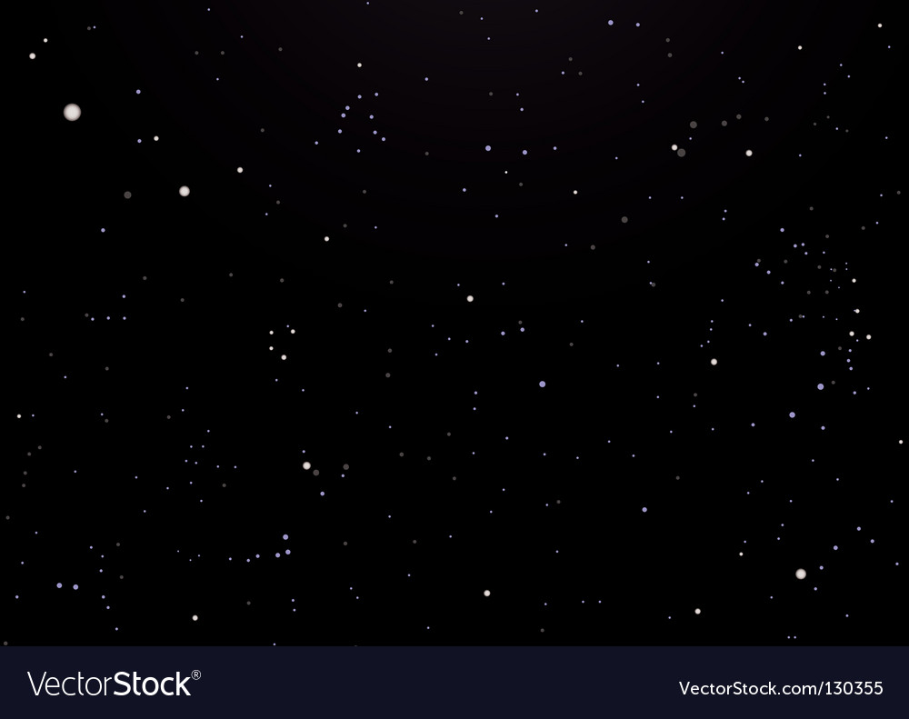 Night sky dark with stars vector | Price: 1 Credit (USD $1)