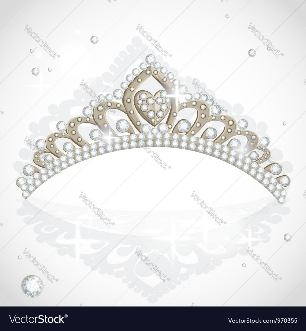Shining tiara with diamonds vector | Price: 1 Credit (USD $1)