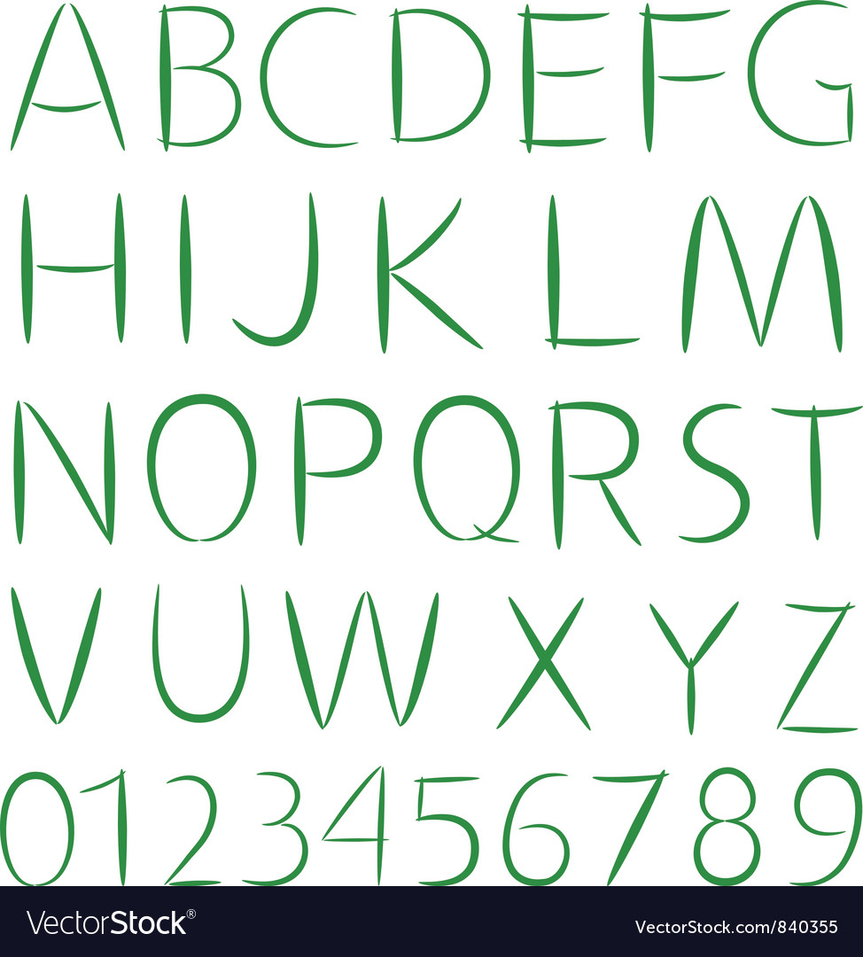 Simple font type vector | Price: 1 Credit (USD $1)