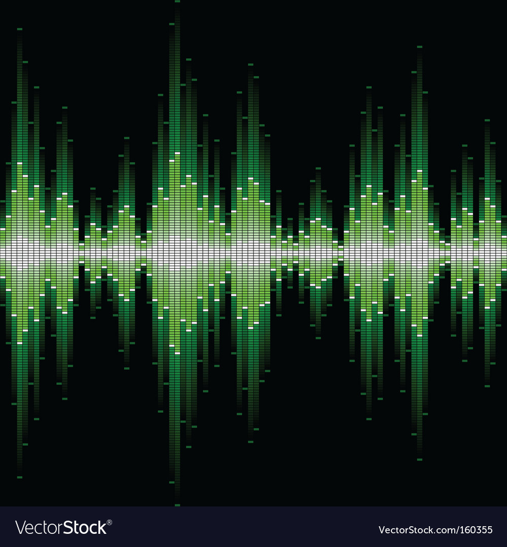 Sound waveform vector | Price: 1 Credit (USD $1)