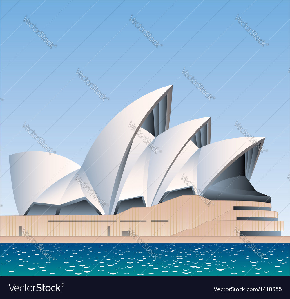 Sydney opera house australia vector | Price: 3 Credit (USD $3)