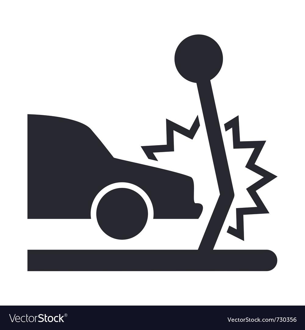 Car crash icon vector | Price: 1 Credit (USD $1)
