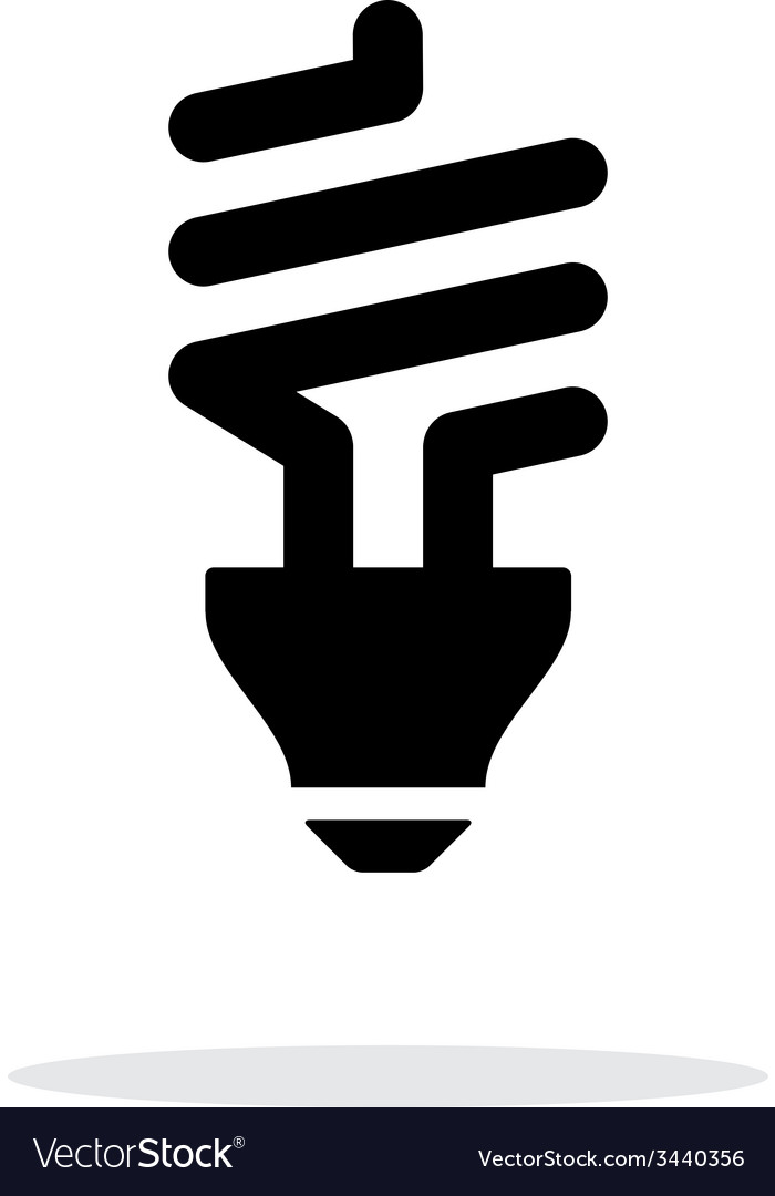 Cfl bulb icon on white background vector | Price: 1 Credit (USD $1)