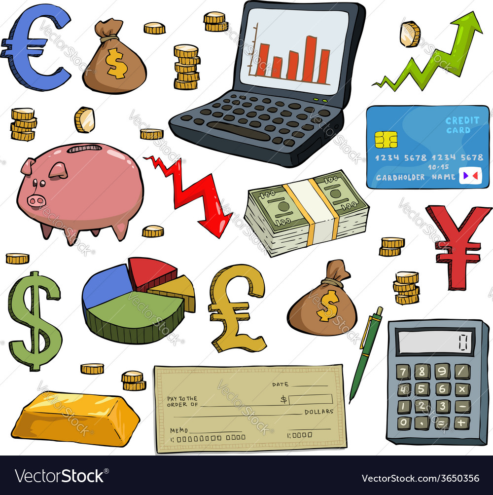 Financial set vector | Price: 1 Credit (USD $1)