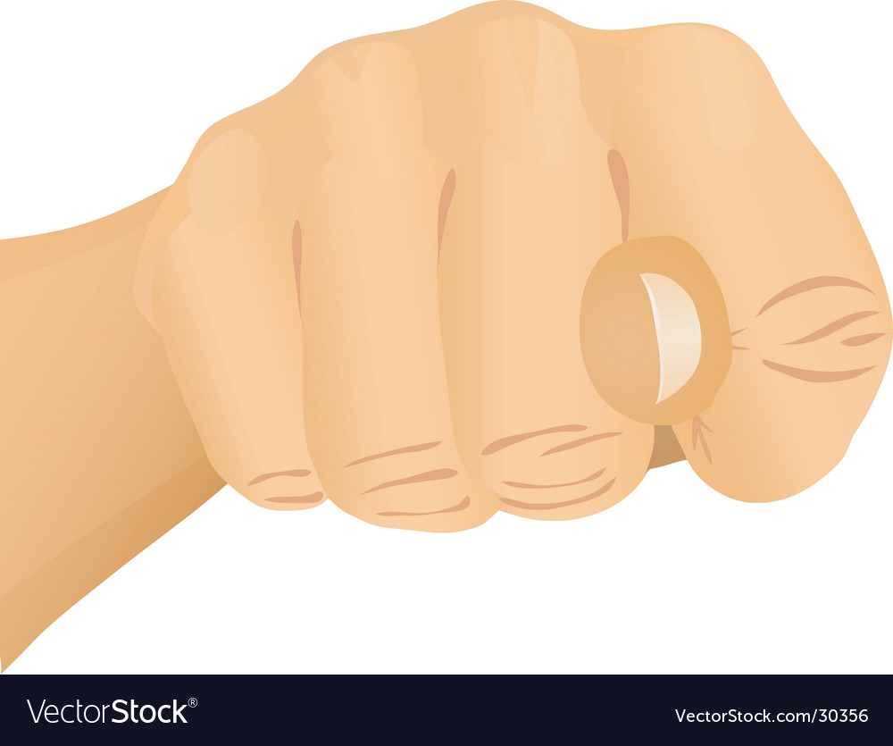 Hand gesture fist vector | Price: 1 Credit (USD $1)