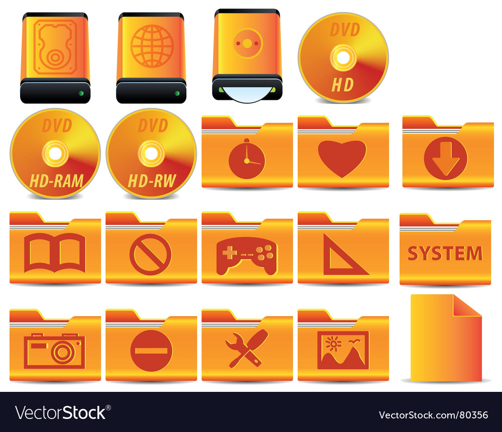 Operational system icons vector | Price: 1 Credit (USD $1)