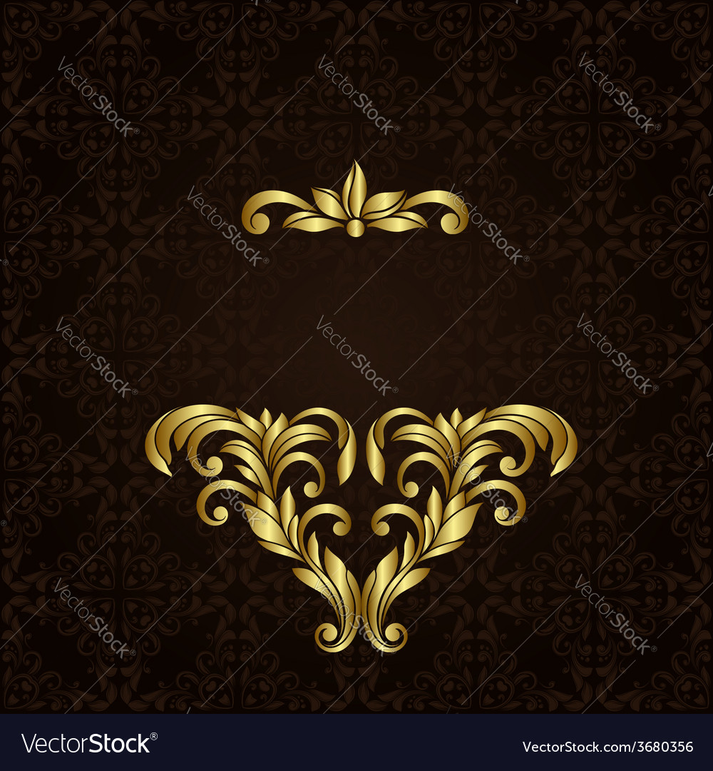 Ornate gold border vector | Price: 1 Credit (USD $1)