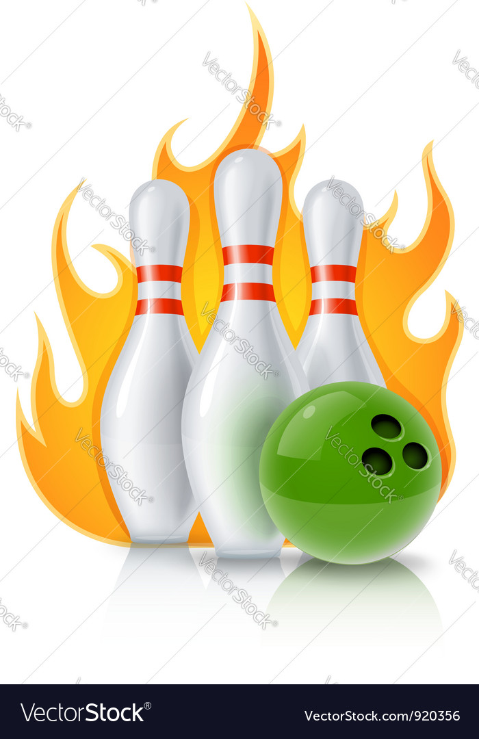 Skittles and ball for bowling vector | Price: 3 Credit (USD $3)