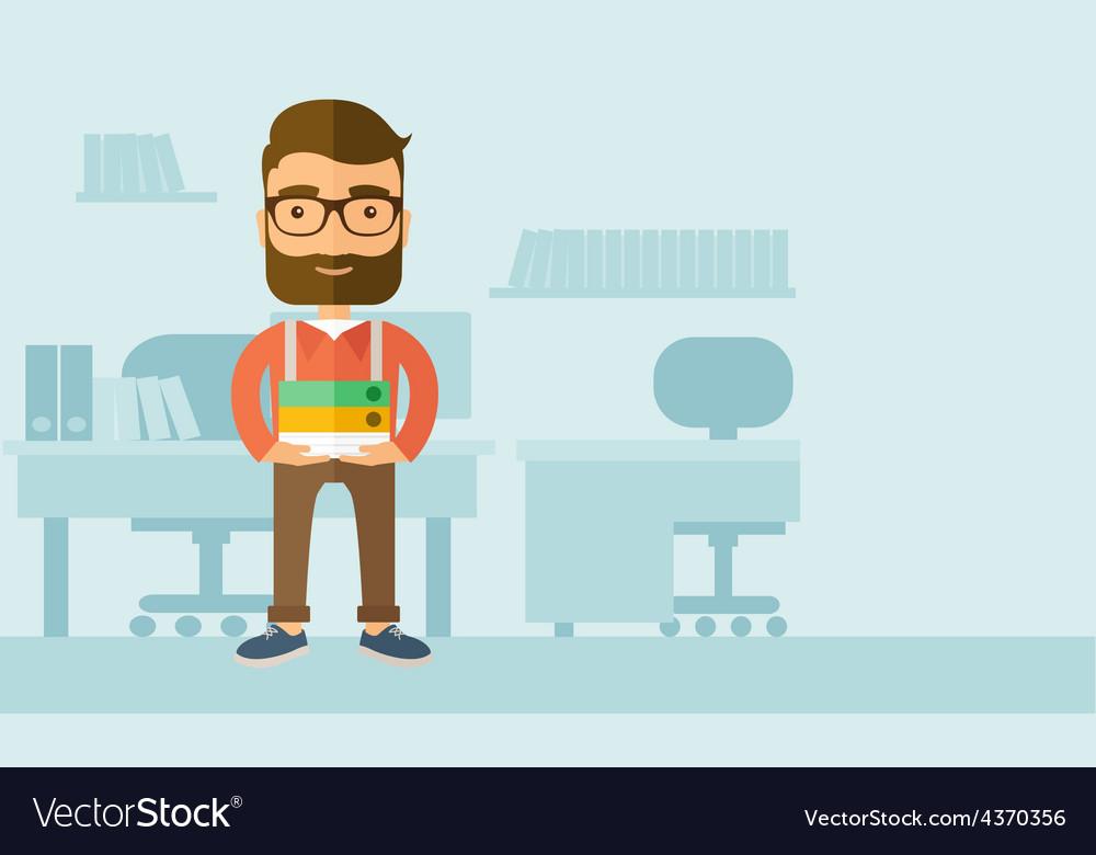 Streesful employee vector | Price: 1 Credit (USD $1)