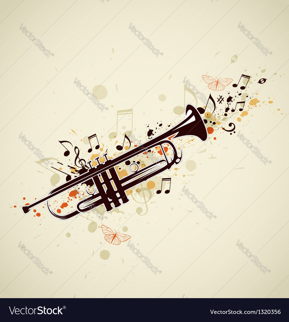 Trumpet abstract vector | Price: 1 Credit (USD $1)