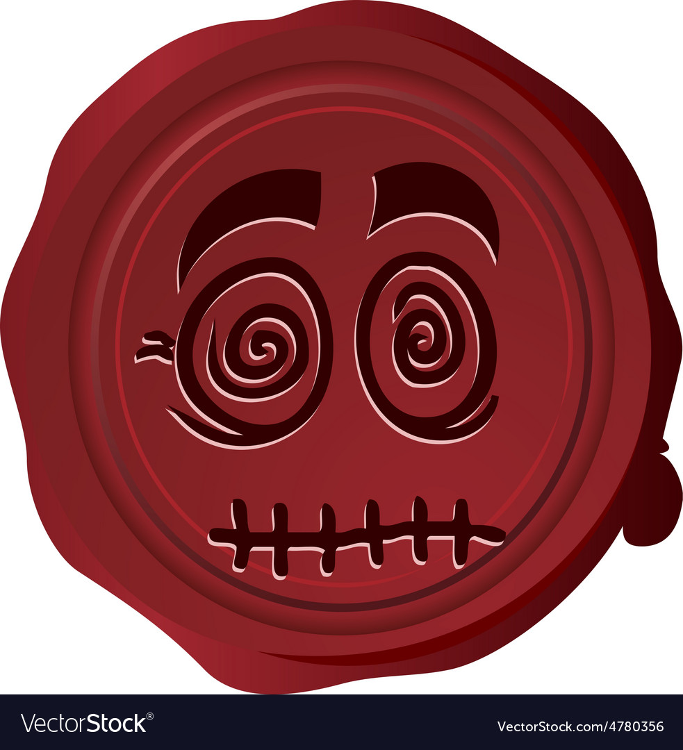 Wax seal smiley 13 vector | Price: 1 Credit (USD $1)