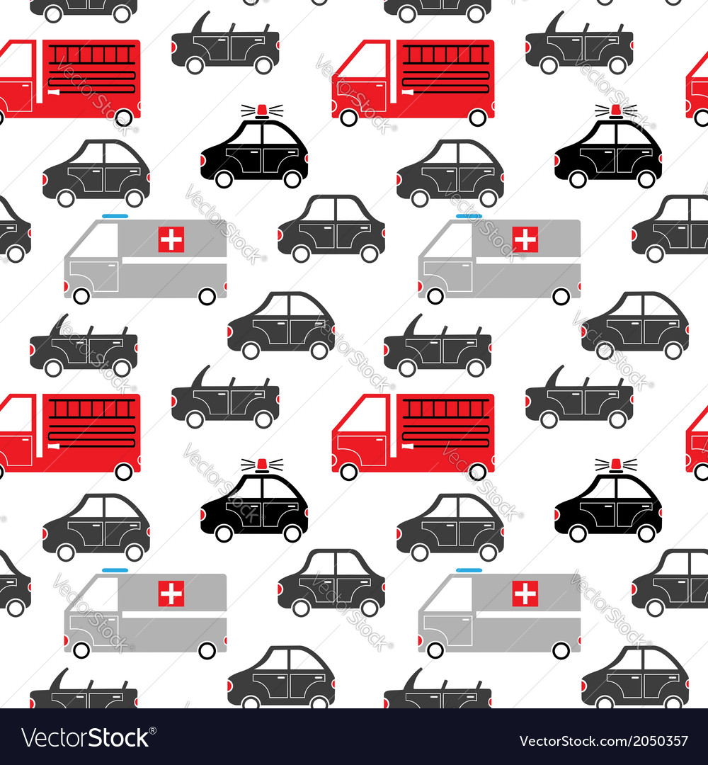 City car seamless pattern vector | Price: 1 Credit (USD $1)