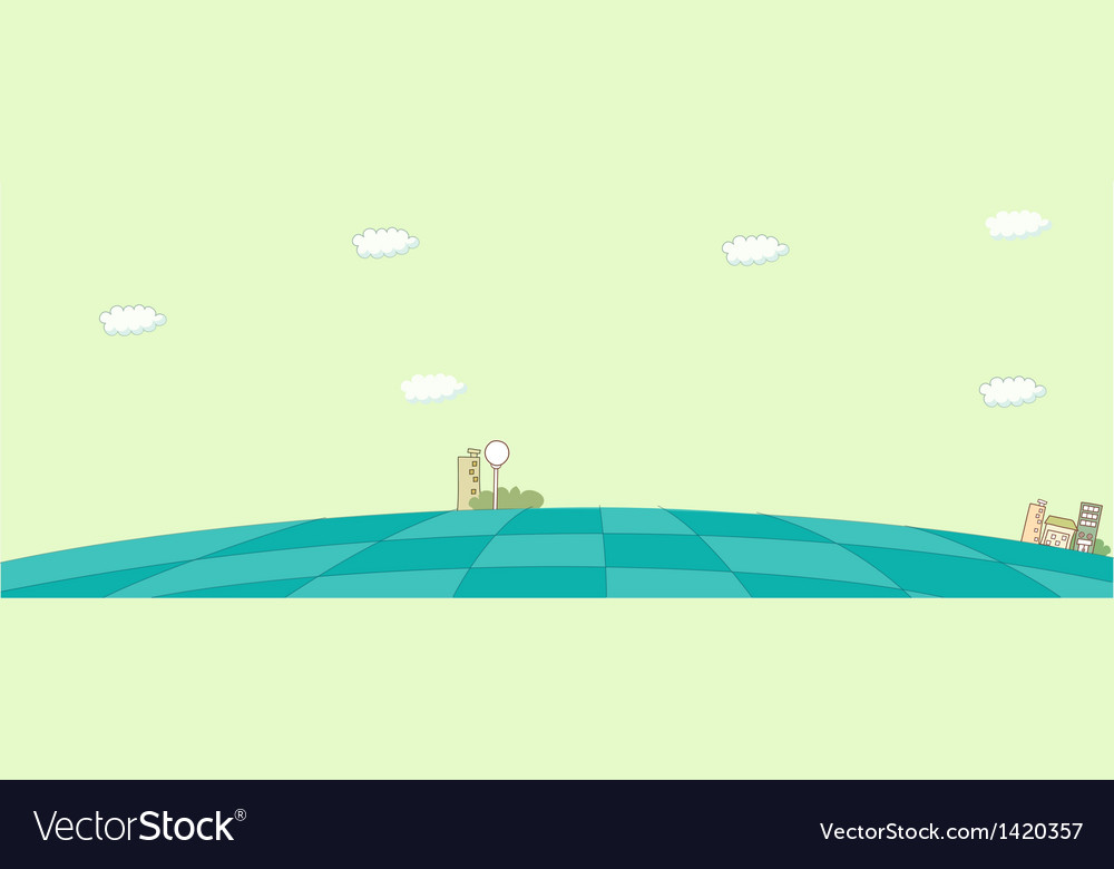 Cute cityscape background vector | Price: 1 Credit (USD $1)