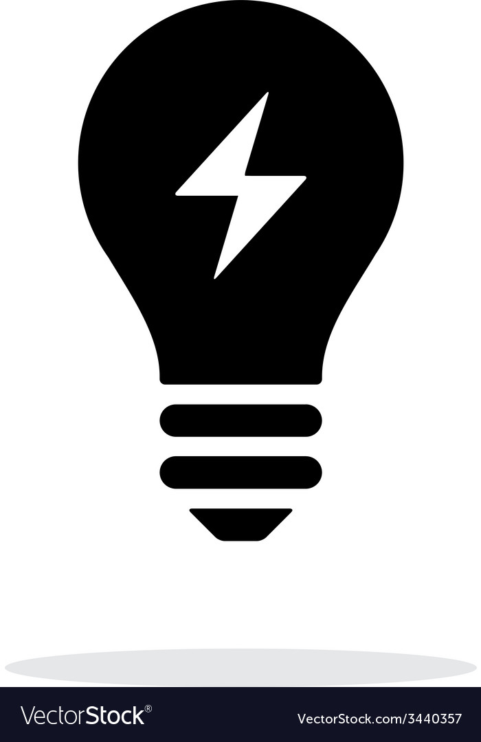 Electric light icon on white background vector | Price: 1 Credit (USD $1)
