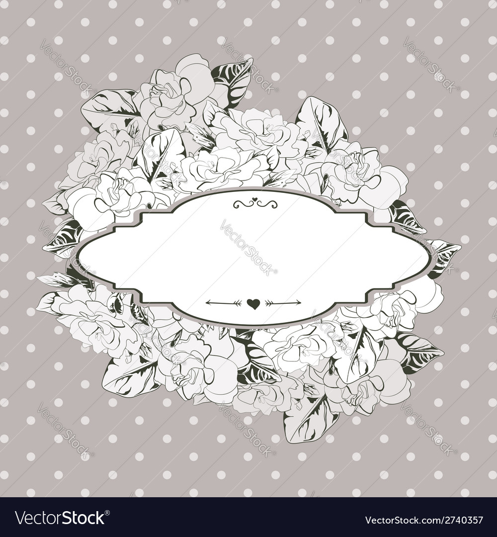 Flower background with place for your text vector | Price: 1 Credit (USD $1)
