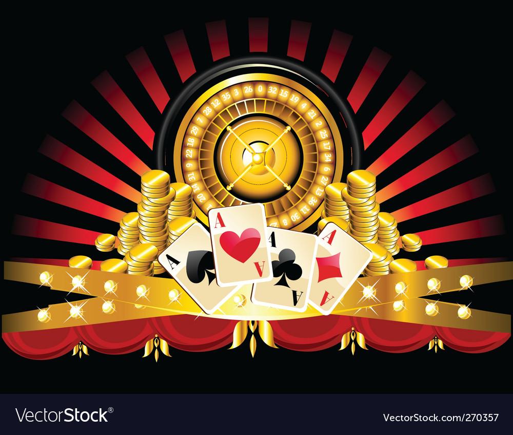 Golden roulette wheel vector | Price: 1 Credit (USD $1)