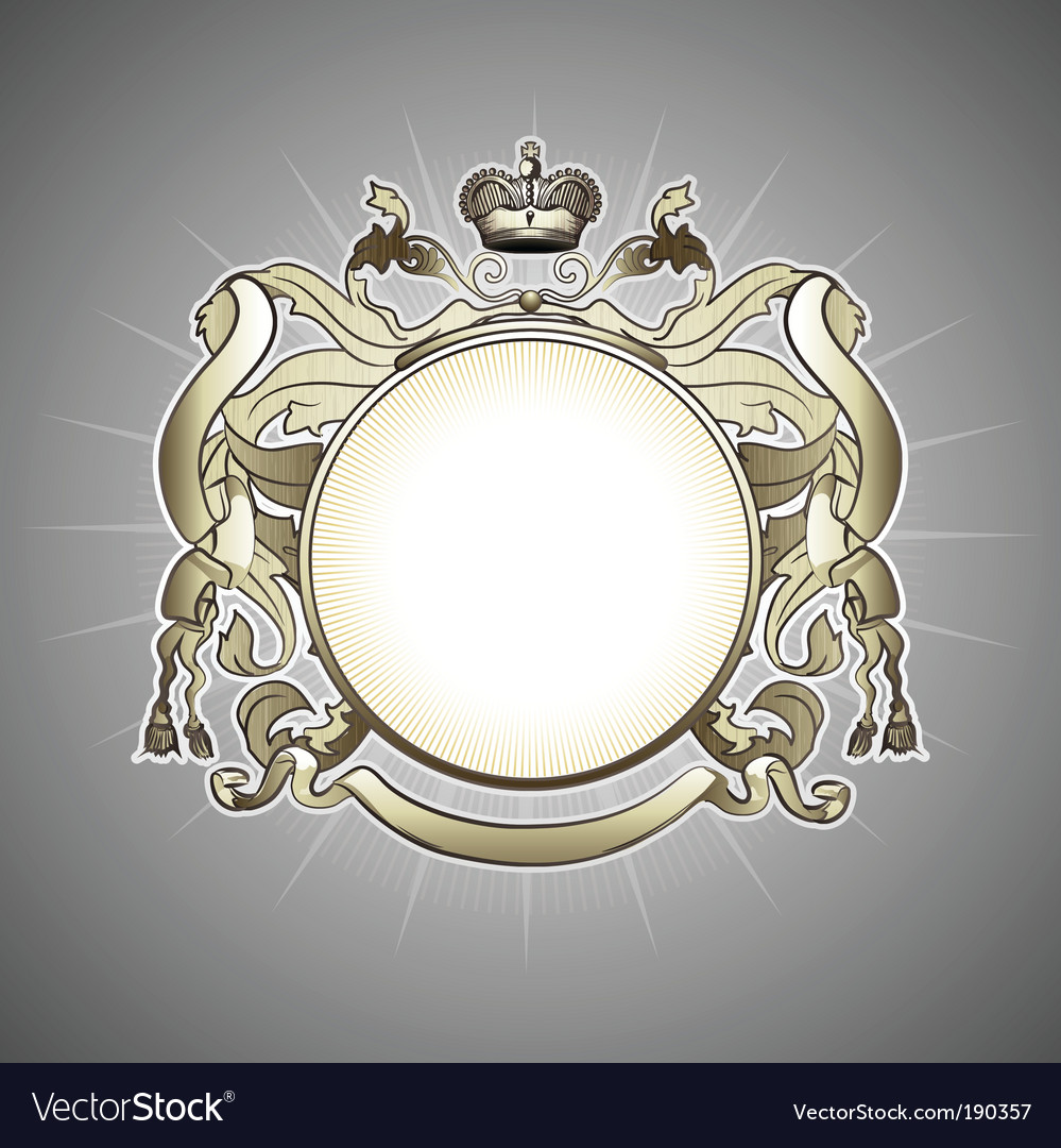 Heraldic frame vector | Price: 1 Credit (USD $1)