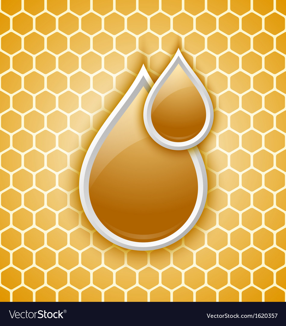Honey drops icon vector | Price: 1 Credit (USD $1)