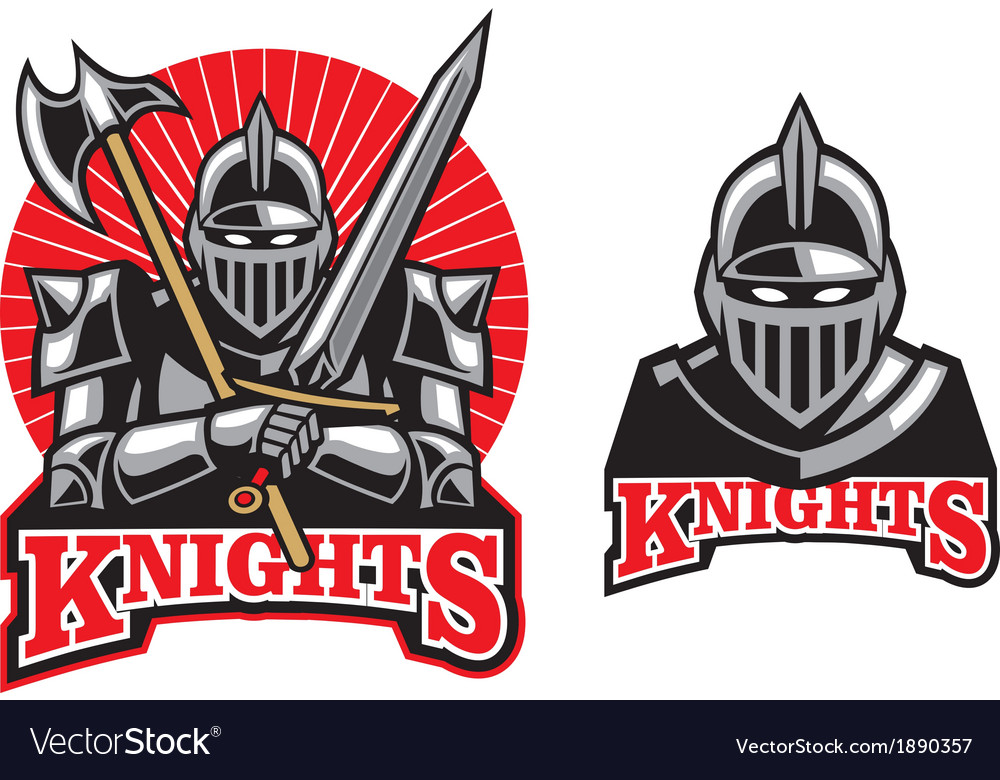 Medieval knight mascot vector | Price: 3 Credit (USD $3)