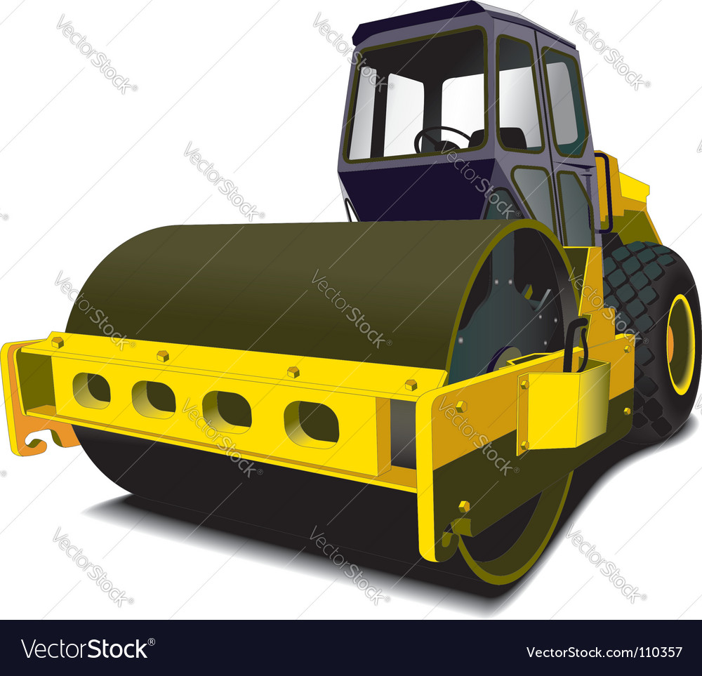 Road roller vector | Price: 1 Credit (USD $1)