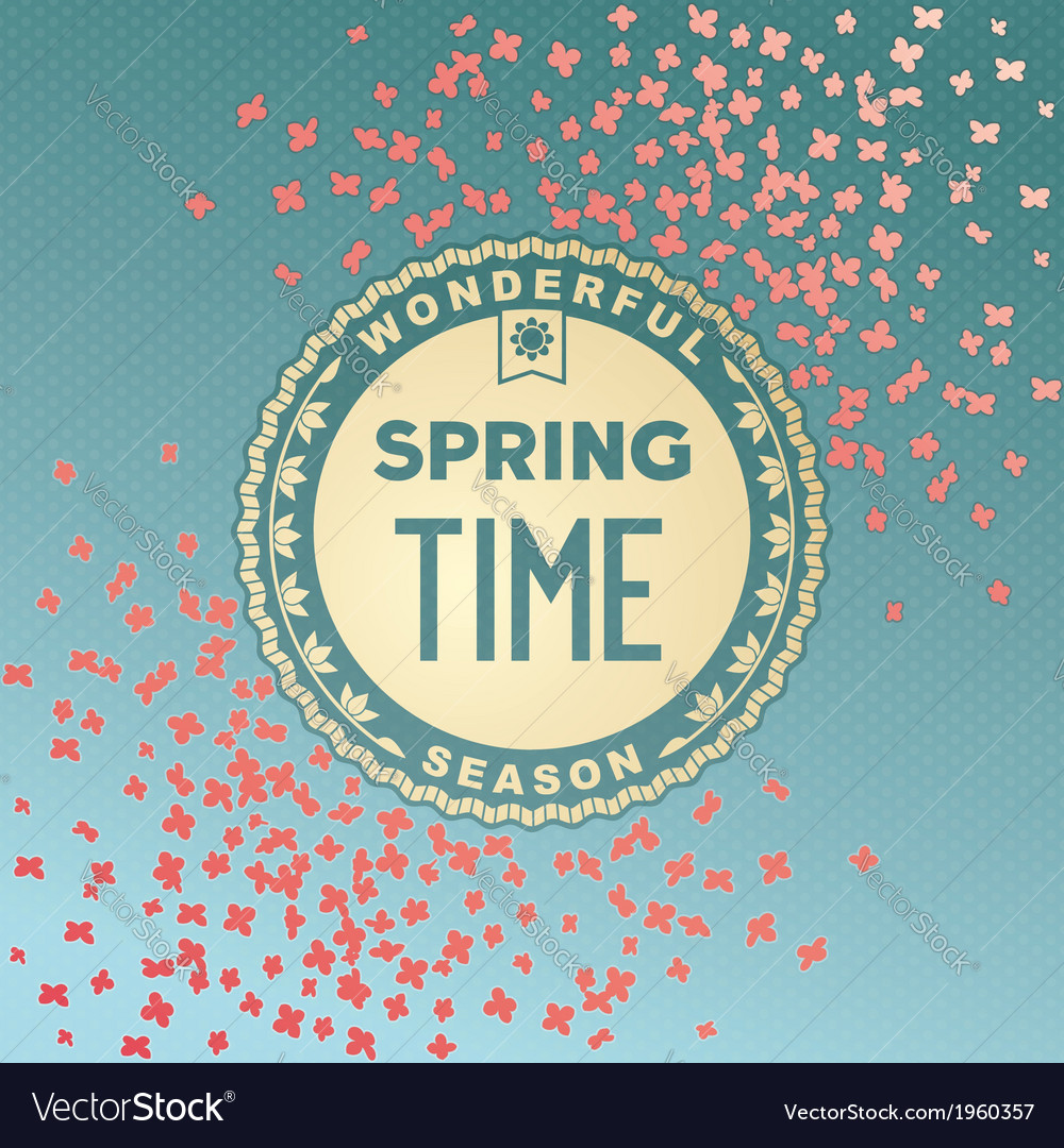 Spring time wonderful season vector | Price: 1 Credit (USD $1)