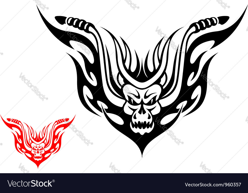 Tribal biker motorcycle tattoo vector | Price: 1 Credit (USD $1)