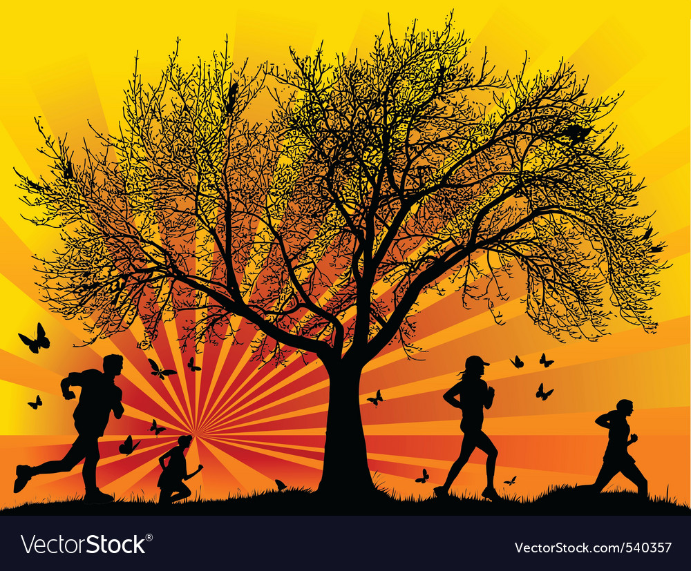 Under the tree vector | Price: 1 Credit (USD $1)