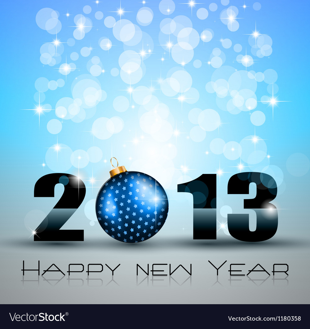 2013 new year celebration background vector | Price: 1 Credit (USD $1)