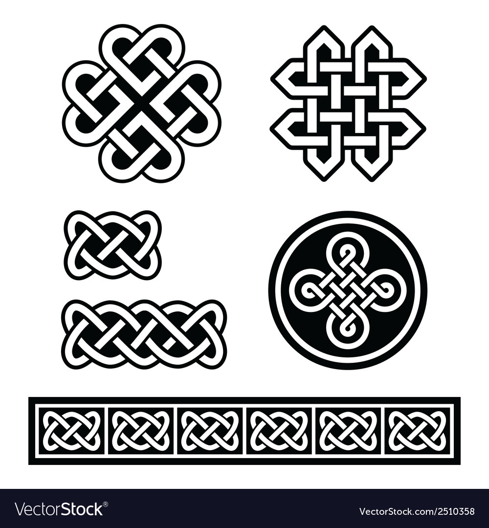 Celtic irish patterns and braids - vector | Price: 1 Credit (USD $1)