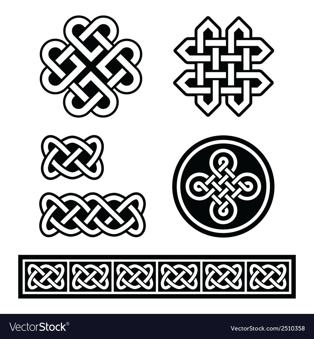 Celtic irish patterns and braids - vector | Price: 1 Credit (USD $1)