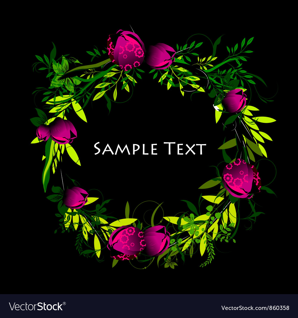 Colorful spring floral frame vector   Price: 1 Credit (USD $1)