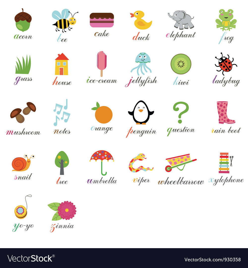 Cute alphabet vector | Price: 3 Credit (USD $3)