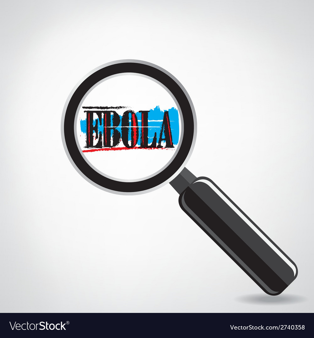 Ebola searching sign or magnifying glass symbol vector | Price: 1 Credit (USD $1)