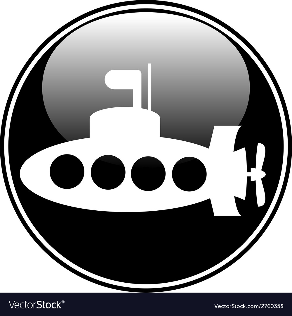 Submarine button vector | Price: 1 Credit (USD $1)