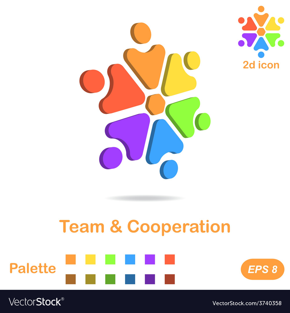 Team and cooperation logo concept vector | Price: 1 Credit (USD $1)