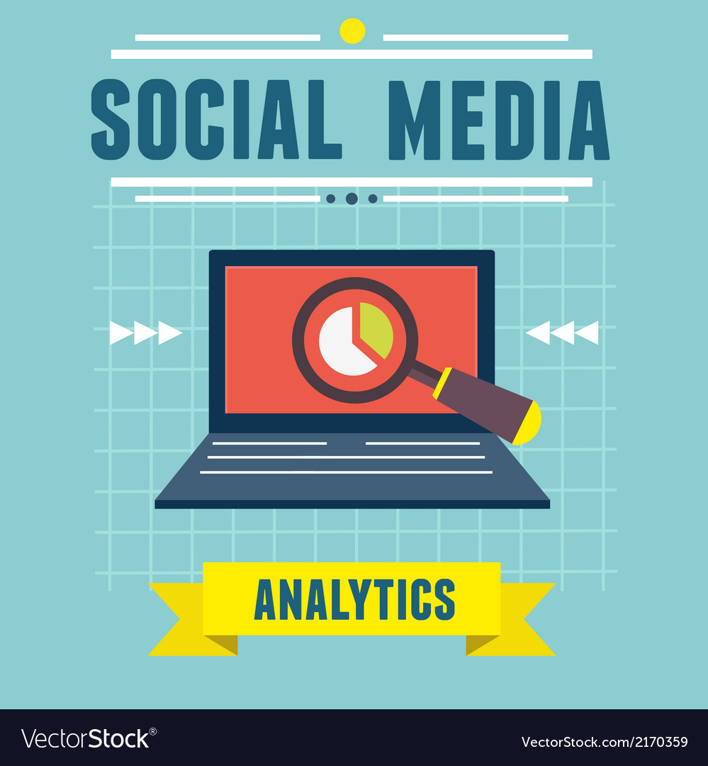 Analytics social media information vector | Price: 1 Credit (USD $1)