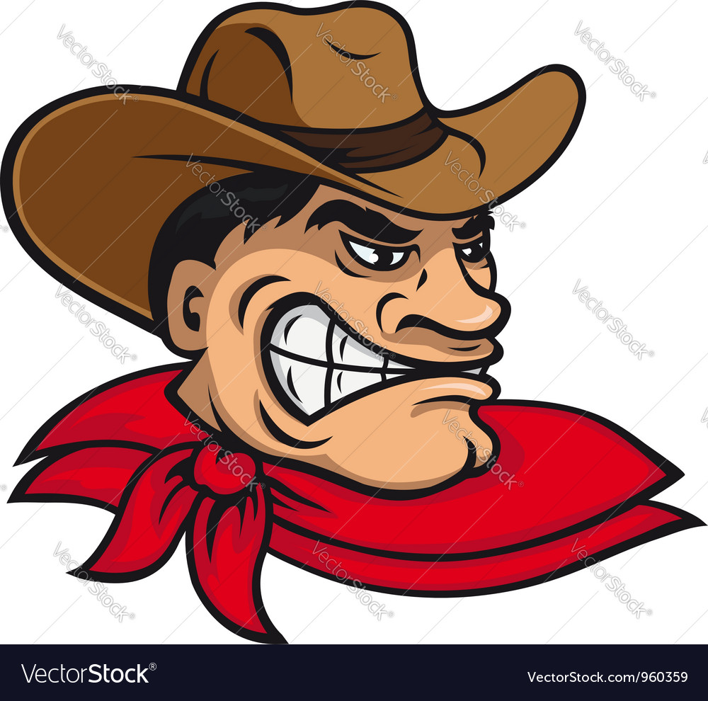 Cartoon cowboy in hat vector | Price: 1 Credit (USD $1)