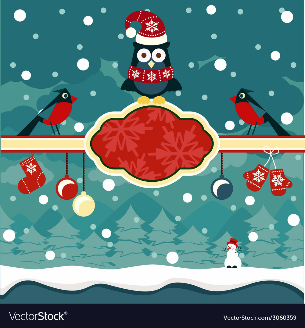 Christmas horizontal banners background vector | Price: 1 Credit (USD $1)